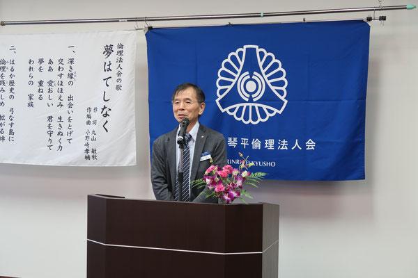 モーニングセミナー委員長 岡田 秀文