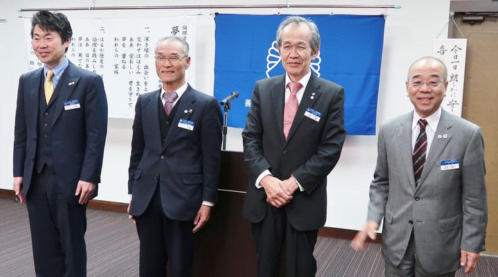 歴代会長が設立10周年記念のネクタイをしめて出席です。