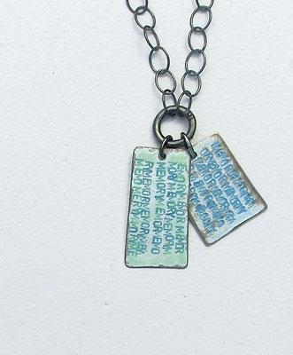 Memoria : Anhänger / Silber, Emaille