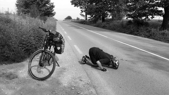 Pierre Hendrickx - Nach einer langen Anstiegsfahrt
