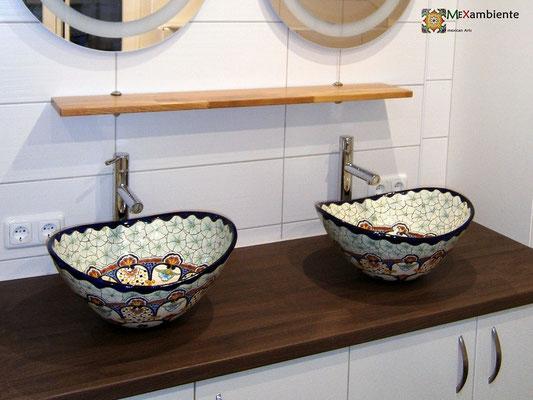 Designer Aufsatzwaschbecken MEX 7 - Cancun, oval.