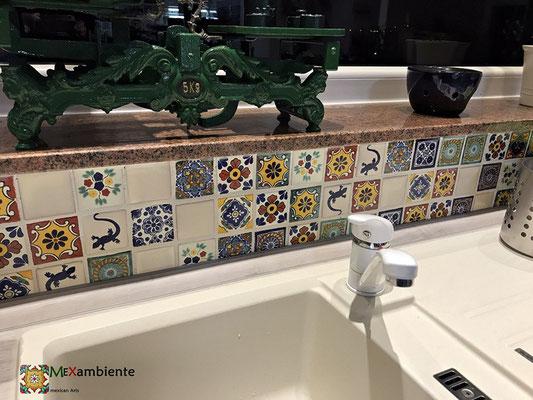 Rustikale Mosaikfliesen 5x5 cm aus Mexiko von Mexambiente