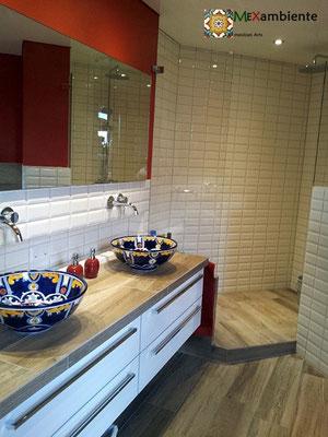 Ungewöhnliche Design Waschbecken aus Mexiko für ein originelles Badezimmer.