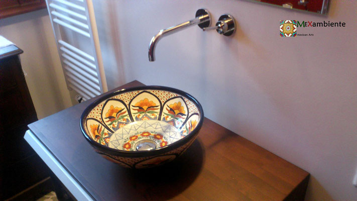 Waschschale aus Mexiko Form: MEX3 von Mexambiente