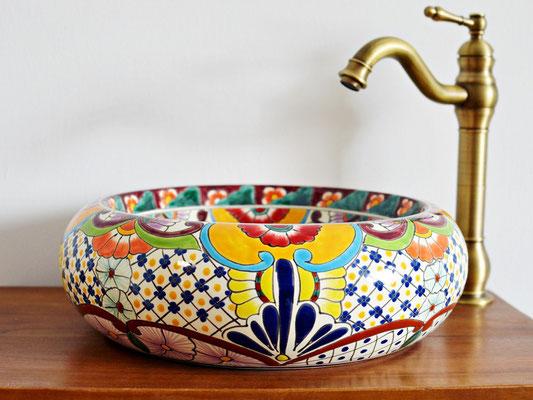 Designer Aufsatzwaschbecken Donna - Motiv FRIDA