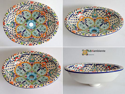 Design Einbau-Waschbecken aus Mexiko Motiv: Caribe