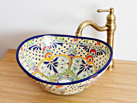 Design Aufsatzwaschbecken oval aus Mexiko - CARIBE