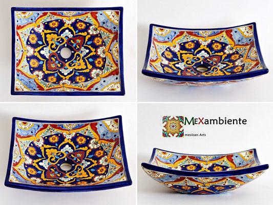 Mexambiente Design Aufsatzwaschbecken MEX1 ACAPULCO aus Mexiko