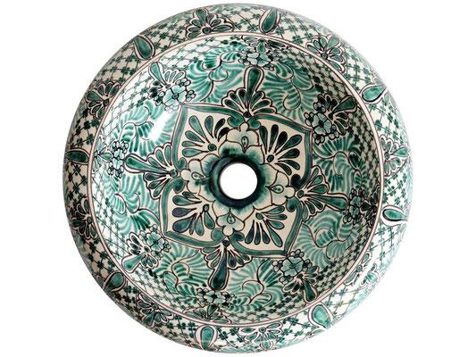 Handbemaltes Aufsatzwaschbecken IMPERIAL / Mexiko Kunsthandwerk