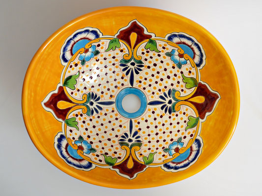 Wunderschöne Waschschale oval PUEBLA aus Mexiko