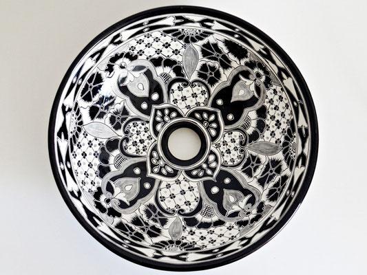 Santiago - Design Aufsatzwaschbecken aus Mexiko, klein, für Gäste-WC