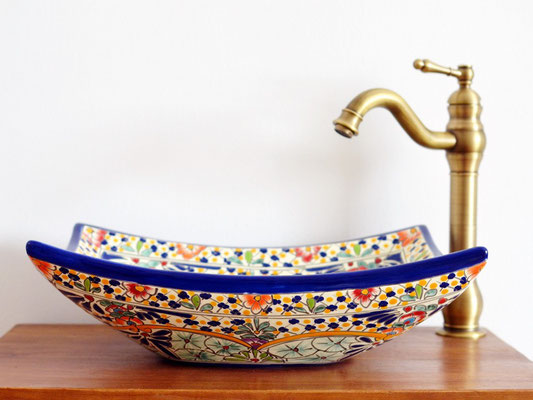 CARIBE - Bunter Waschtisch aus Mexiko, ein echtes Kunstwerk!