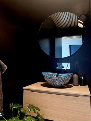 Design Aufsatzwaschbecken oval MEX7 Pavo türkis