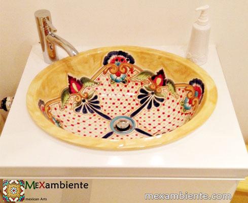 Mexambiente Einbauwaschbecken Modell: Puebla