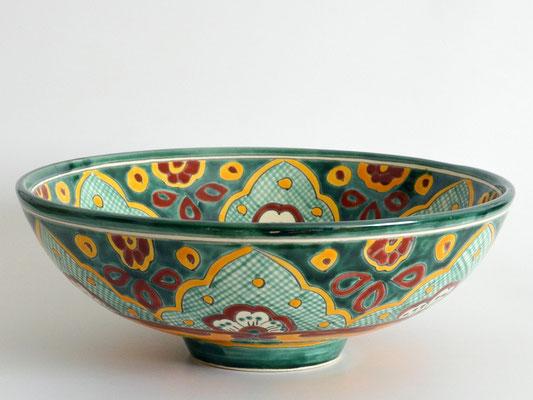 Kleines Aufsatzwaschbecken mit mexikanischem Muster VERANO VERDE MEX2