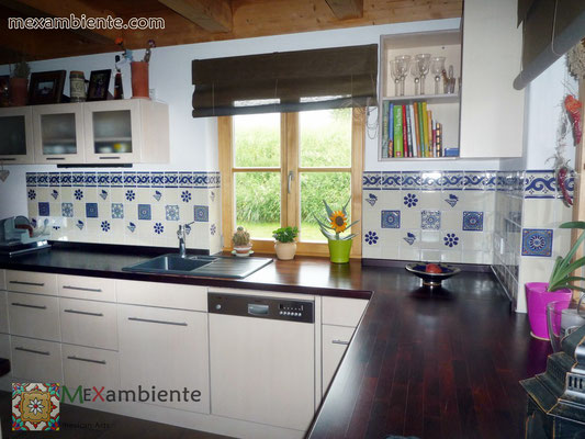mexambiente fliesen 11x11 cm weiss uw1 creme dekor fliesen. Black Bedroom Furniture Sets. Home Design Ideas