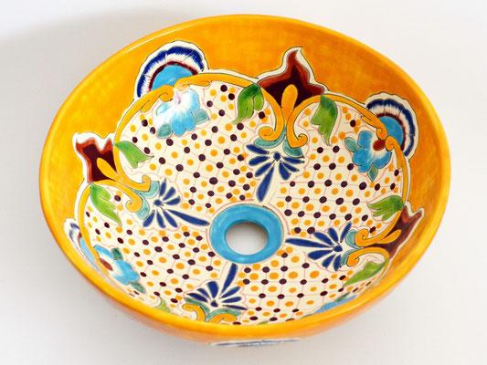 Mexambiente Aufsatzwaschbecken MEX3 PUEBLA rund 39 cm