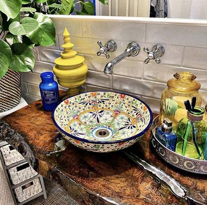 """Kundenfoto: Hier das Aufsatzwaschbecken """"CARIBE"""""""