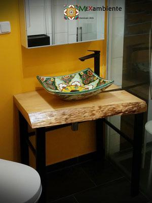 Design Aufsatzwaschbecken eckig - MEX1 Verano verde