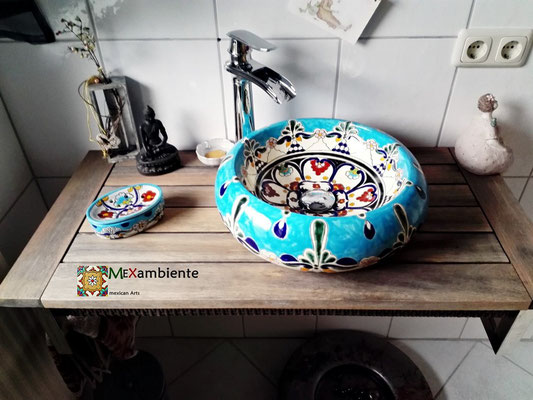 Design Aufsatzwaschbecken TULUM, Form Donna