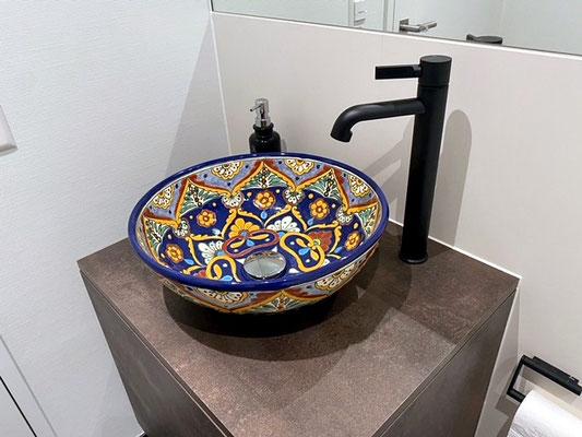 Design Waschbecken aus Mexiko ACAPULCO rund