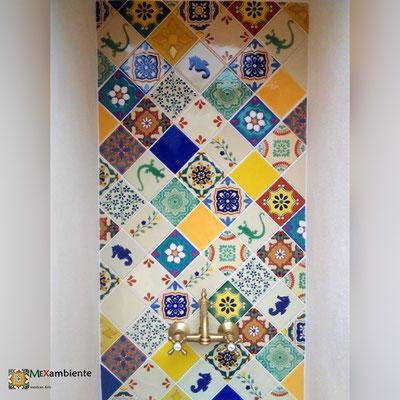 Fliesen aus Mexiko in premium Qualität 11x11 cm - Einfarbig & Dekorfliesen