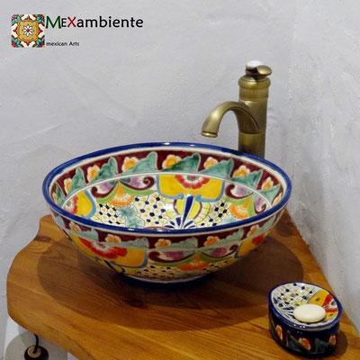 Aufsatzwaschbecken MEX3 Frida / Seifenspender Frida