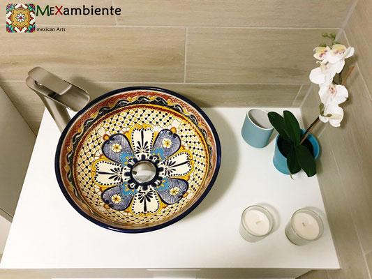 IKEA Waschtisch Godmorgon mit einem Mexambiente Waschbecken MAYA