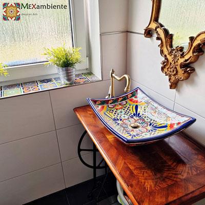 Tolles Aufsatzwaschbecken MEX1 Frida - rechteckig