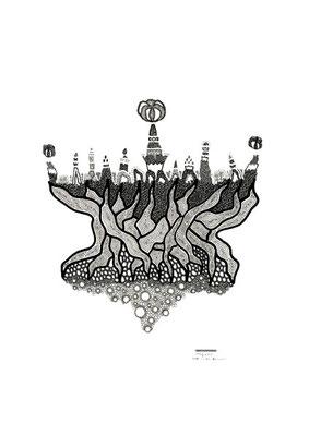 Stadt in den Bäumen