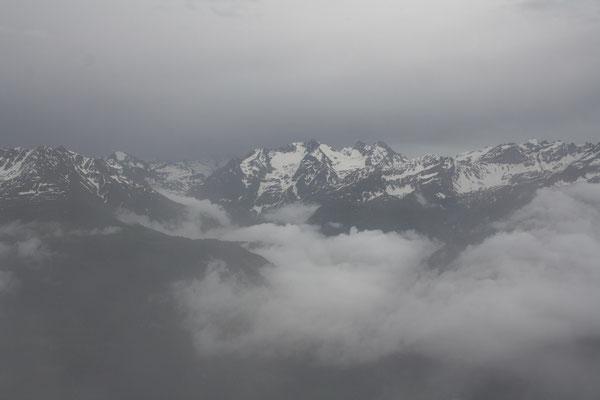 Aussicht vom Val Puntegglias nach Südosten, Val Punteglias, GR