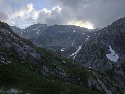 Erneuter Versuch: Aufstieg zur Kluft, Gotthard, TI