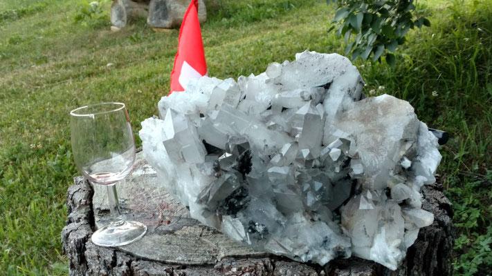 Grosse Kristallstufe.