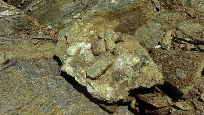 Einige Kristalle im typischen tessiner Habitus