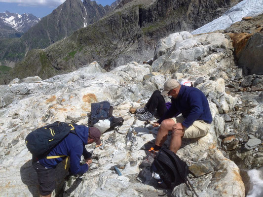 Pause am Gletscherrand