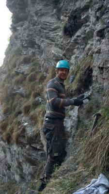 Eine weitere Fundstelle im steilen Gelände