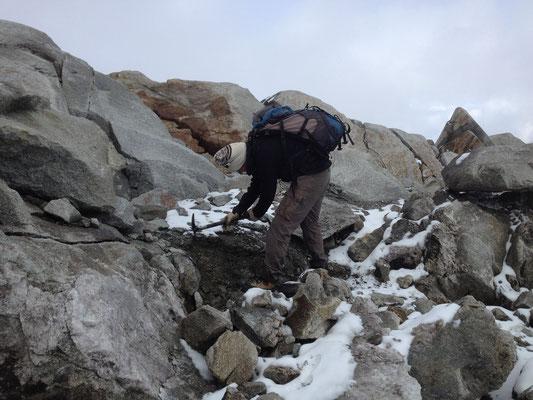 Arbeit an einer Fundstelle, Fibbia, Gotthard, TI