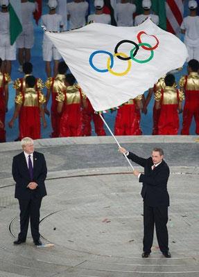 Le drapeau de Séoul (Pékin 2008)