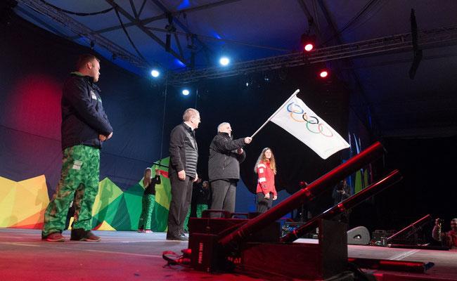 Le drapeau d'Innsbruck (Lillehammer 2016)