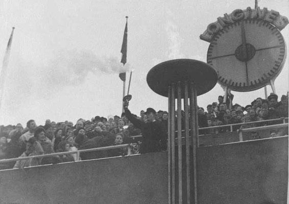 Allumage de la Vasque Oslo 1952