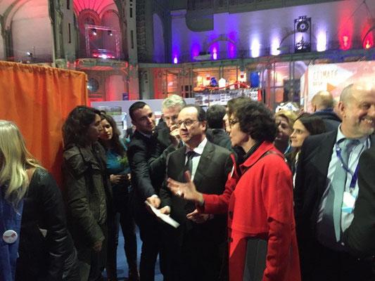 Avec Le Président de la République, François Hollande et Véronique Le Mouël, artiste