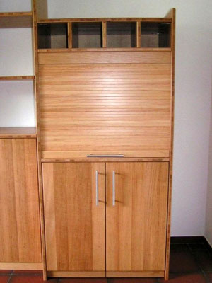 Integrierter Computerarbeitsplatz - Möbelrollladen
