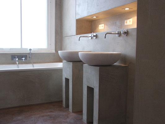 Beton ciré in Badezimmer #Interior #Wohnen #Style
