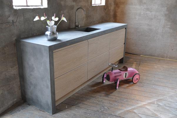 Beton Ciré, in der Küche. #Interior #Wohnen #Bauen