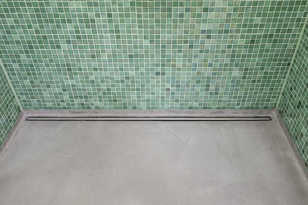 Beton ciré boden in dusche