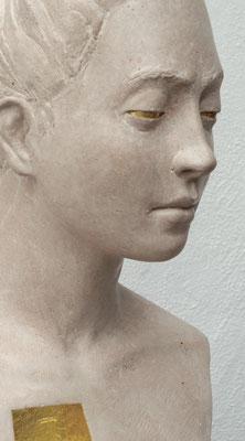 Aurum - Steinguss, farbige Fassung mit Blattgold - 60 x 28 cm - 2015