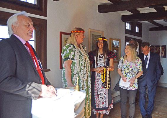 Ausstellungseröffnung durch 1. Vorsitzender Herrn Herrmann.