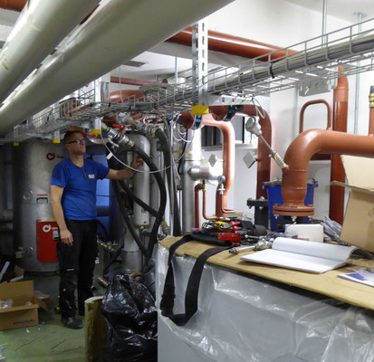 Erneuerung der Heizung und Installation einer Solarthermieanlage für die Warmwasserbereitung