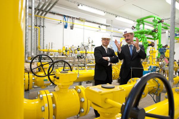 Gaskraftwerk im Industriepark Schwarze Pumpe - fotografiert für VNG - © Dirk Brzoska