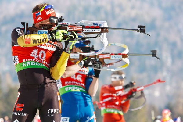 Biatholn in der Chiemgau Arena